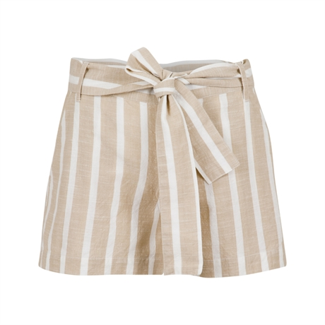 NEO NOIR Valie Stripe Shorts Off White