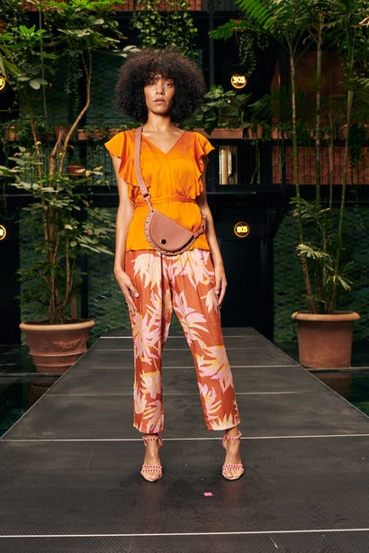 coster copenhagen Top Ruffles Exotic Orange
