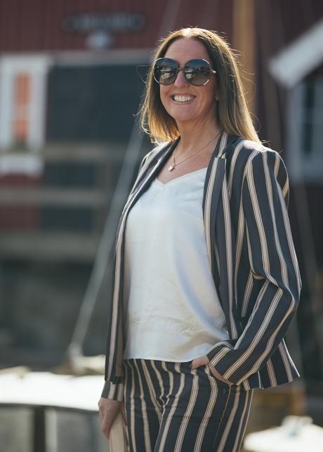 314d83d8d1 coster copenhagen jacket grey plum stripe