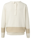 YAYA Lurex Sweater Wool White Gold