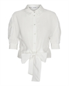co´couture Remi Summer Band Tie Shirt White