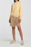 YAYA Cotton Blend Sweatshirt Quote Mellow Yellow