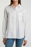 YAYA Cotton Boyfriend Shirt Pure White